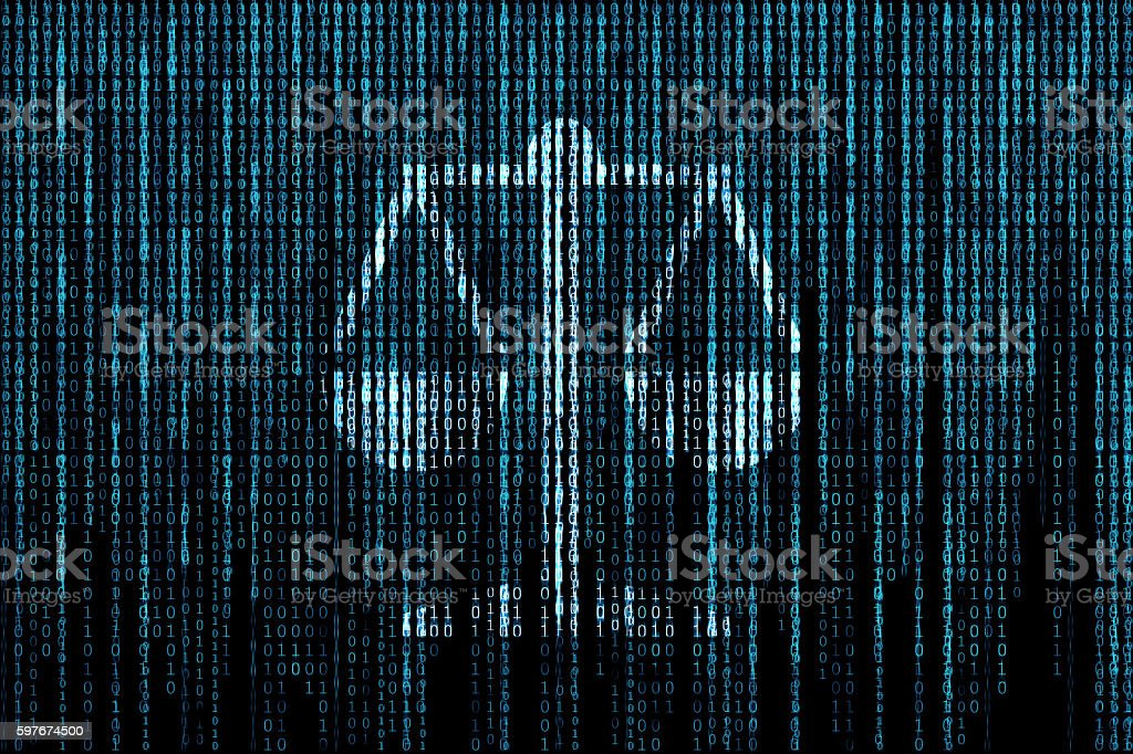 Law matrix background vector art illustration