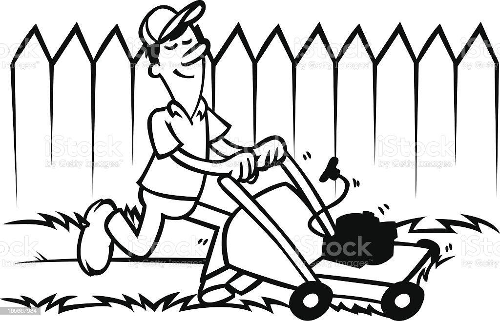 lawn mower royalty-free stock vector art