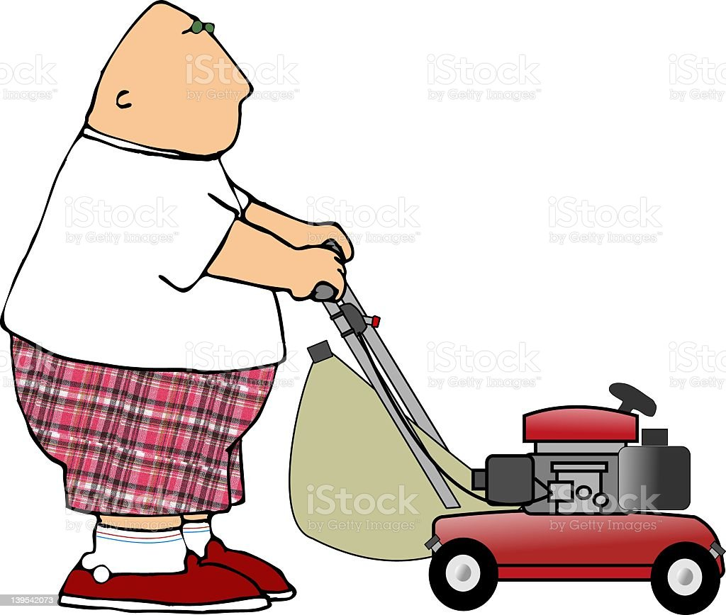 Lawnmower vector art illustration
