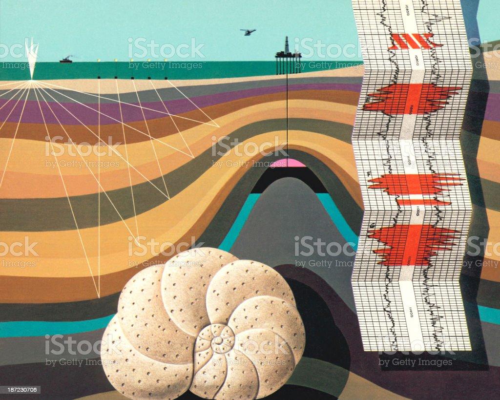 Layers Under the Sea vector art illustration