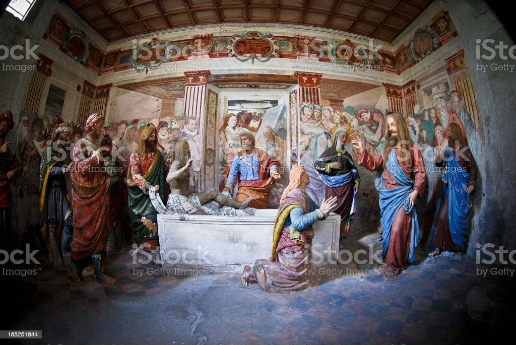Lazarus resurrection royalty-free stock vector art