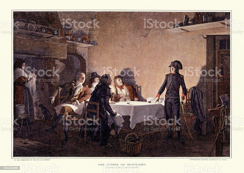 Le souper de Beaucaire vector art illustration