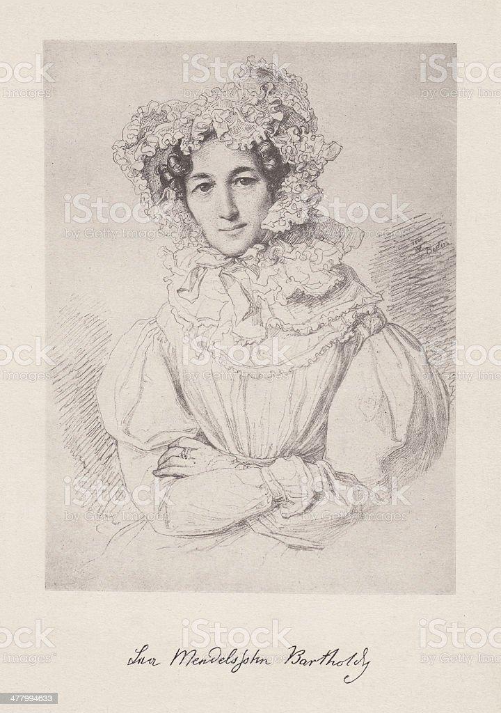 Lea Mendelssohn Bartholdy (1777-1842), collotype, published in 1882 vector art illustration