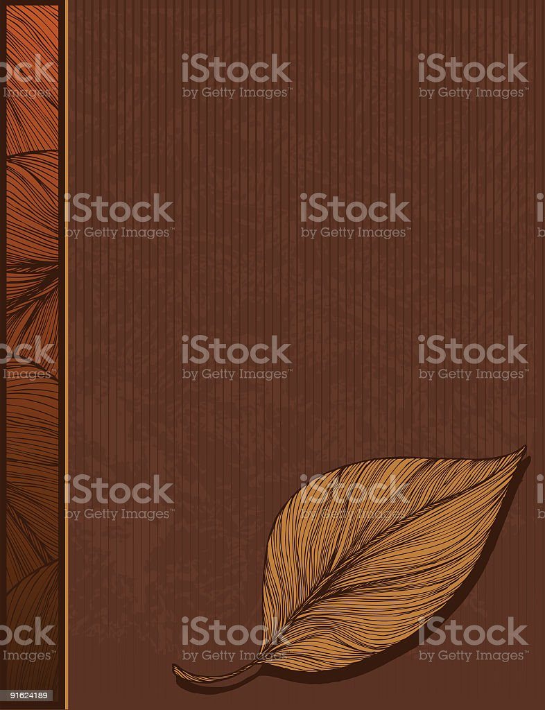 Leaf Background with Side Bar royalty-free stock vector art