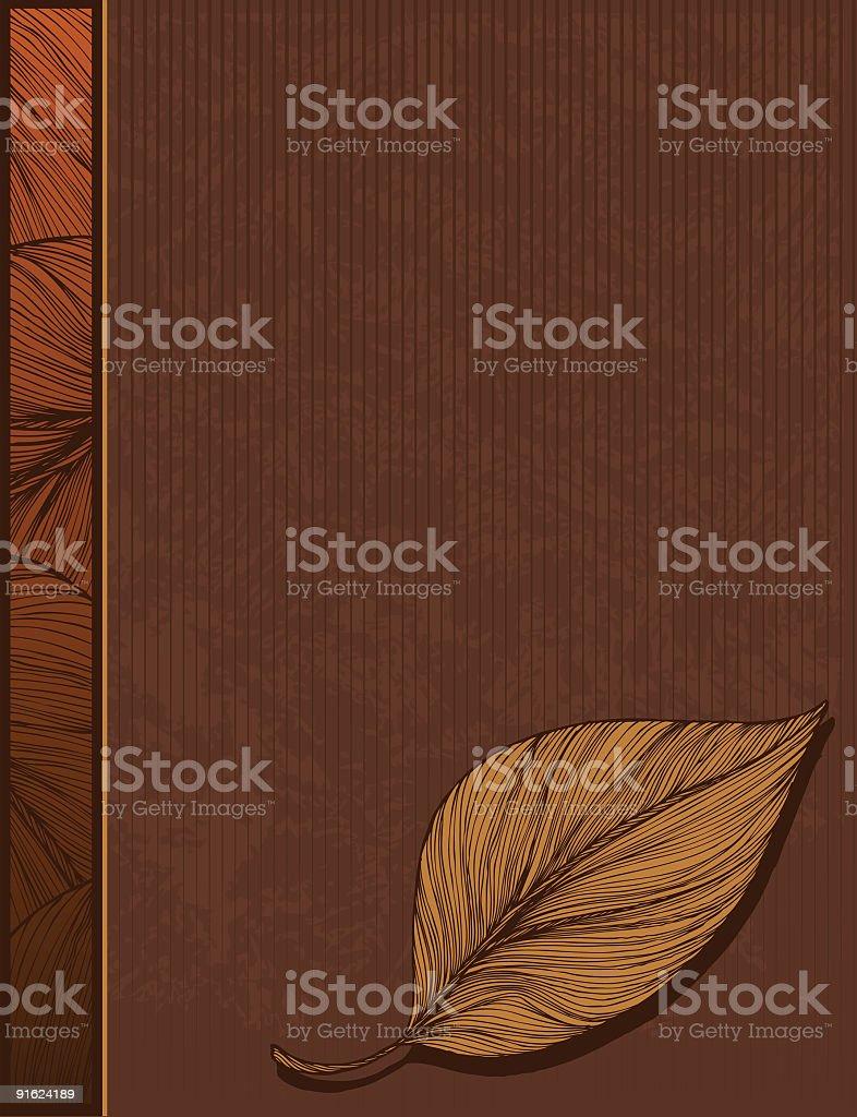 Leaf Background with Side Bar vector art illustration