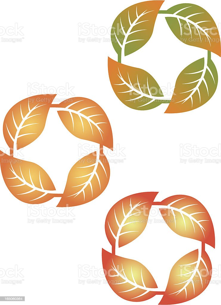 Leaf circle two royalty-free stock vector art