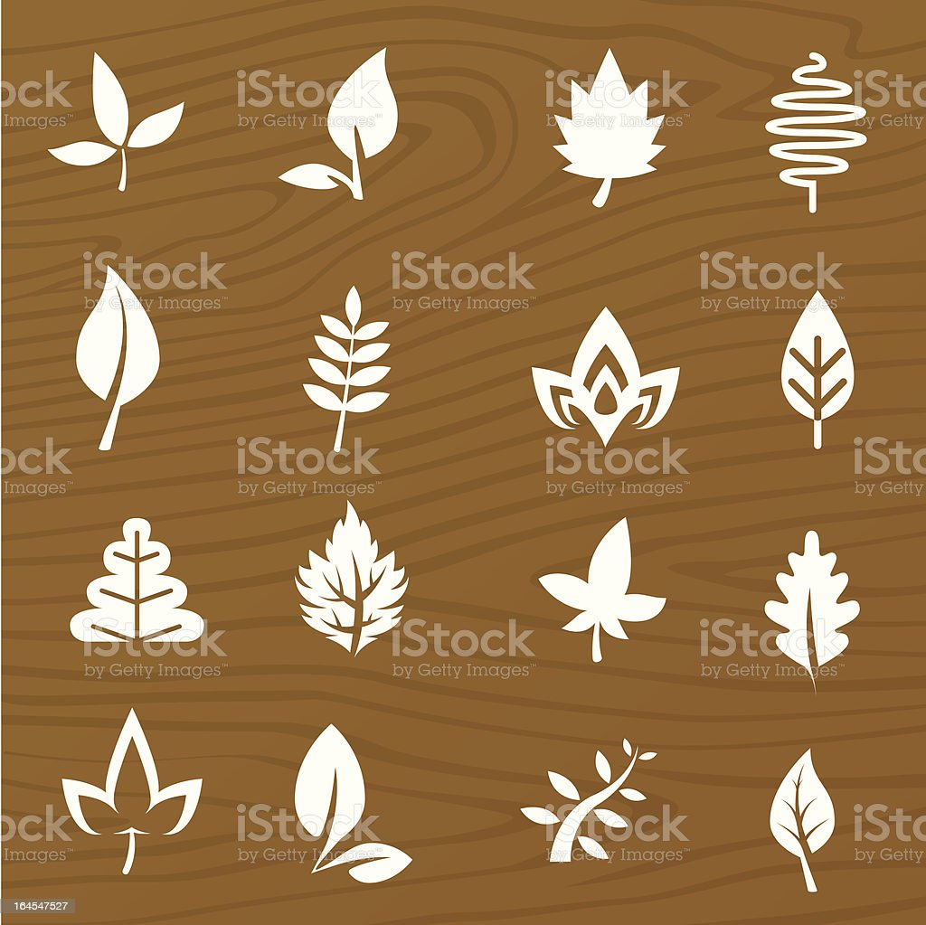 Leaf Elements royalty-free stock vector art