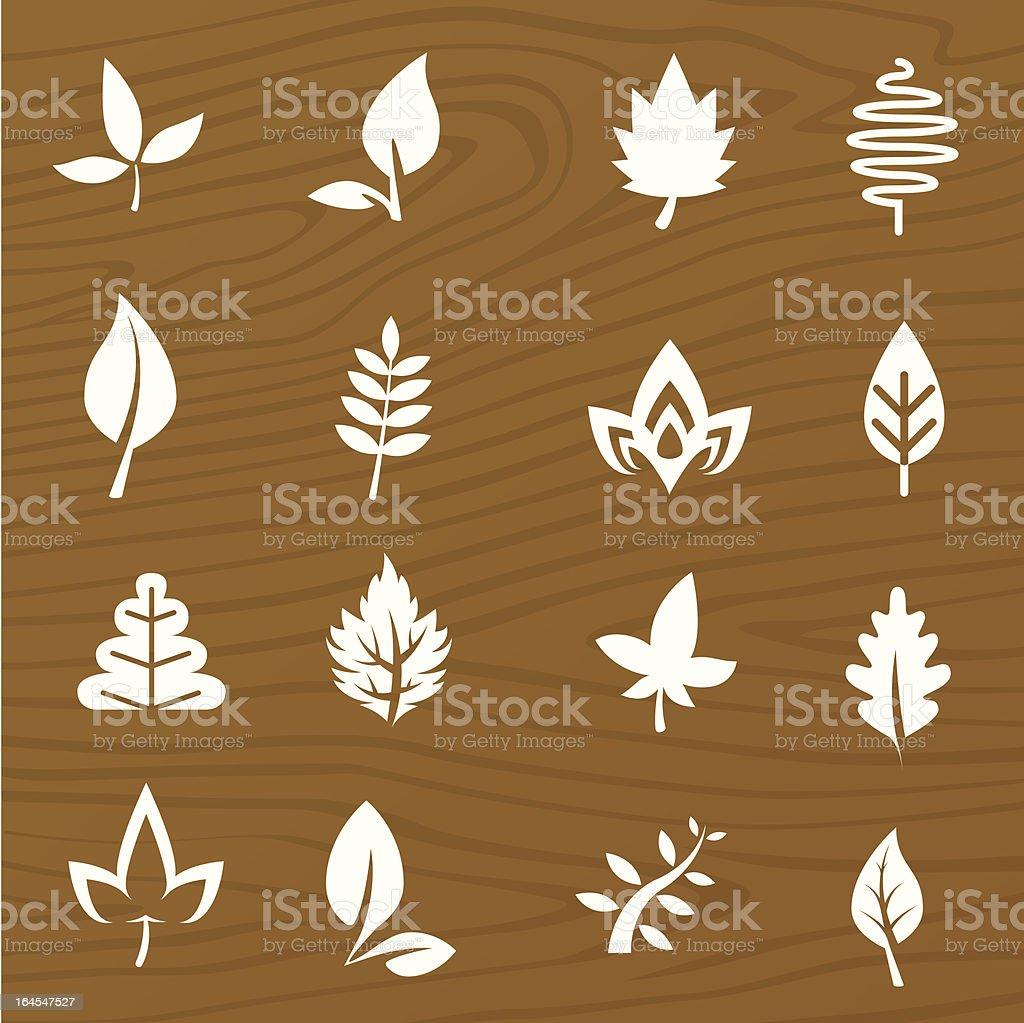 Leaf Elements vector art illustration