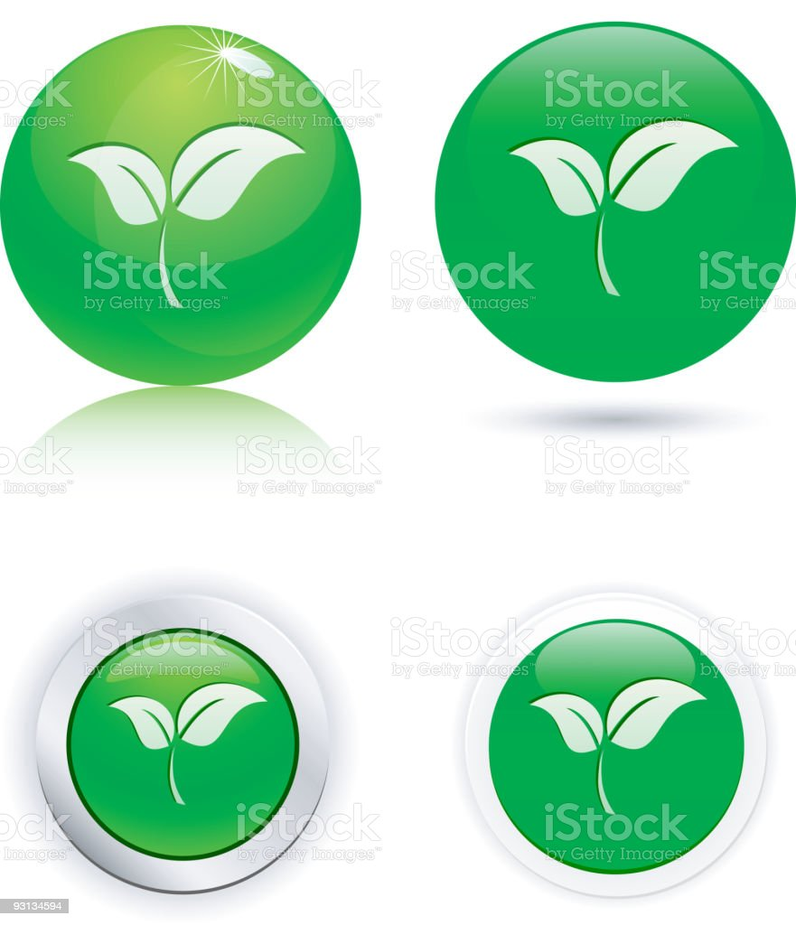 Leaf icons. royalty-free stock vector art