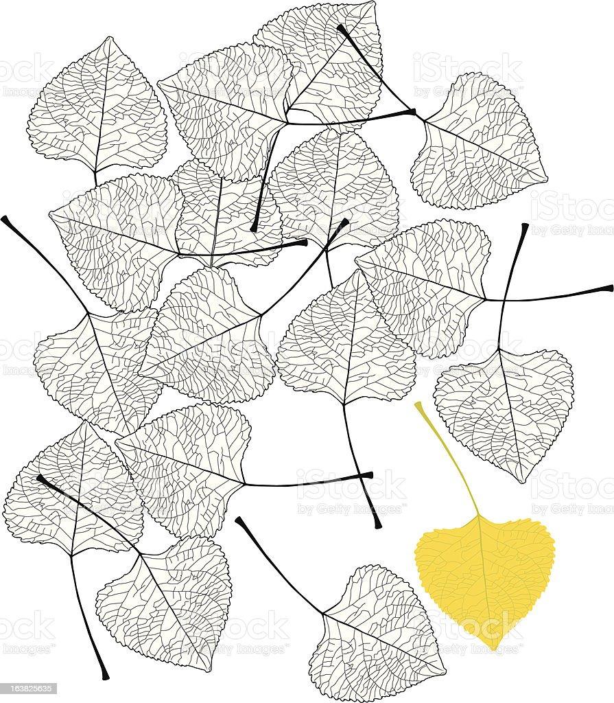 leaf1 vector art illustration