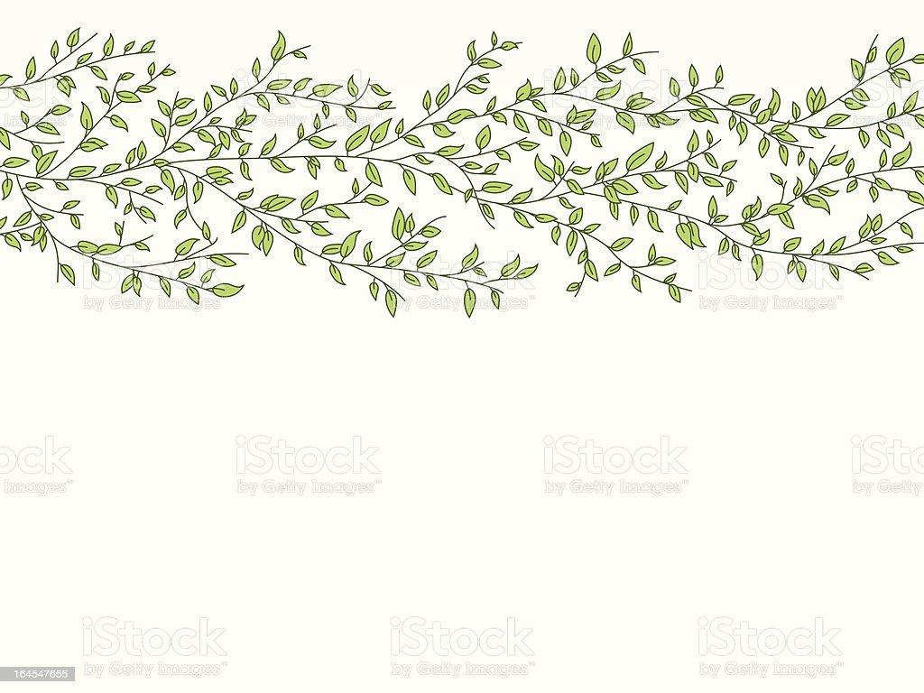 Leafy Background vector art illustration