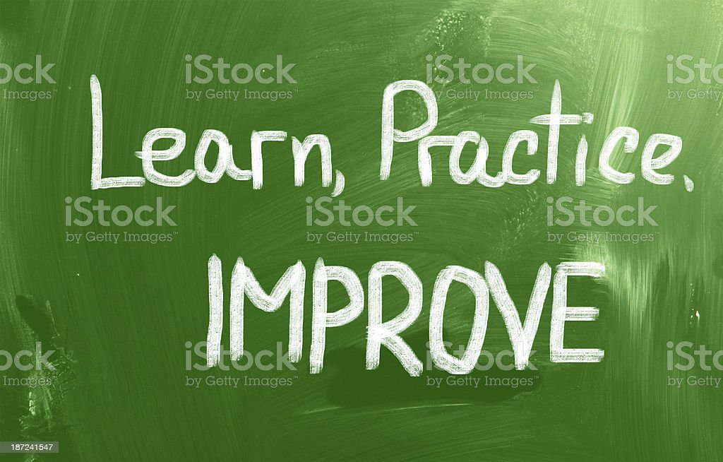 Learn Practice Improve Concept vector art illustration