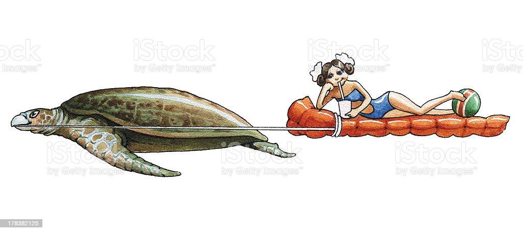 Leatherback Sea Turtle vector art illustration