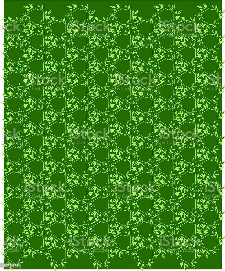 Leaves wallpaper pattern royalty-free stock vector art