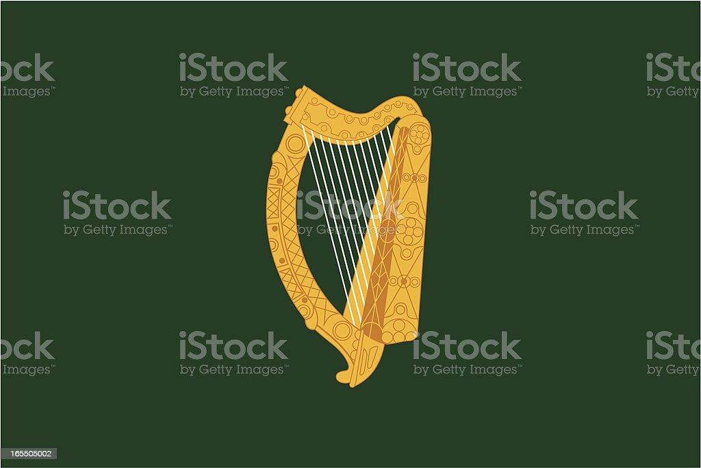 Leinster Flag royalty-free stock vector art