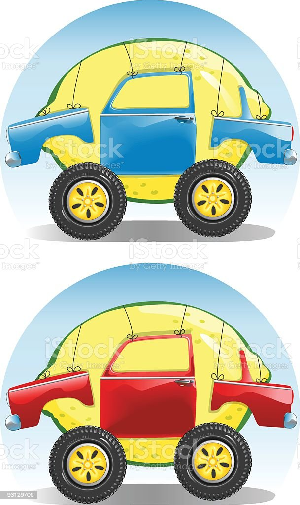 Lemon Car royalty-free stock vector art