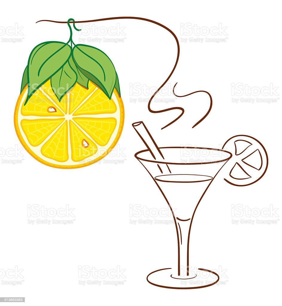 Lemon Christmas decoration royalty-free stock vector art