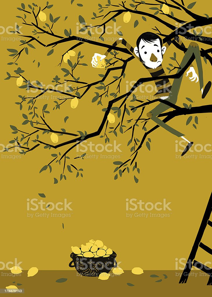 Lemon tree vector art illustration