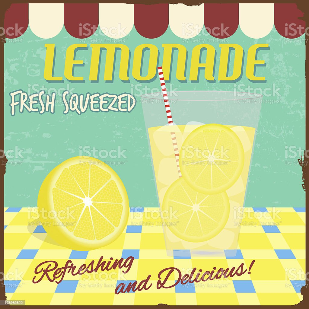 Lemonade poster vector art illustration