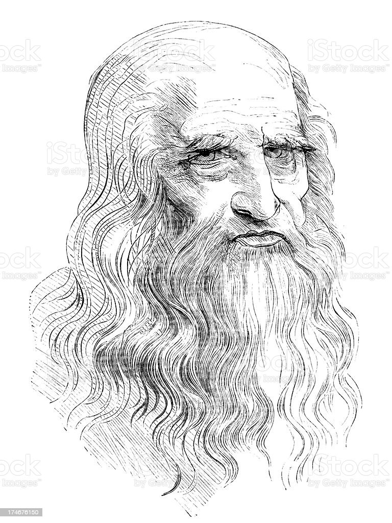Leonardo Da Vinci royalty-free stock vector art