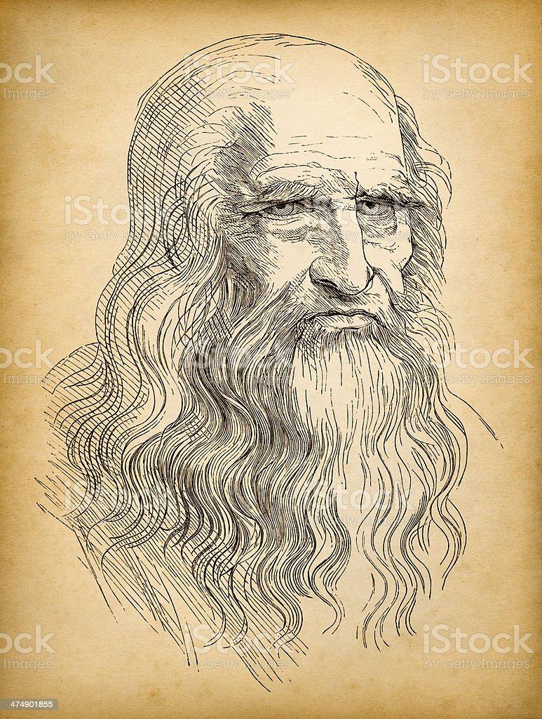 Leonardo da Vinci royalty-free stock vector art