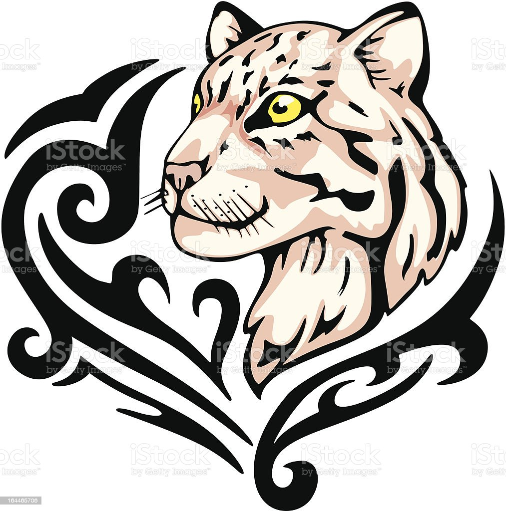 leopard tattoo royalty-free stock vector art