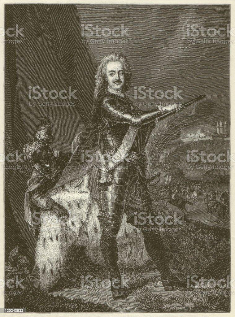 Leopold of Anhalt-Dessau royalty-free stock vector art