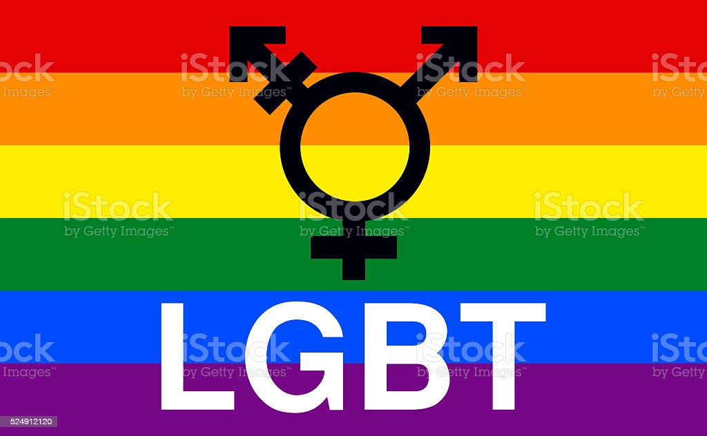 LGBT, Lesbian, Gay,Transgender, Bisexual, Gay Pride Flag vector art illustration