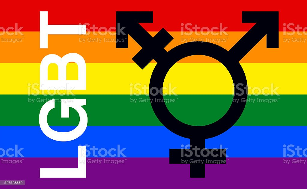 LGBT, Lesbian, Gay,Transgender, Bisexual, Gay Pride Flag stock photo