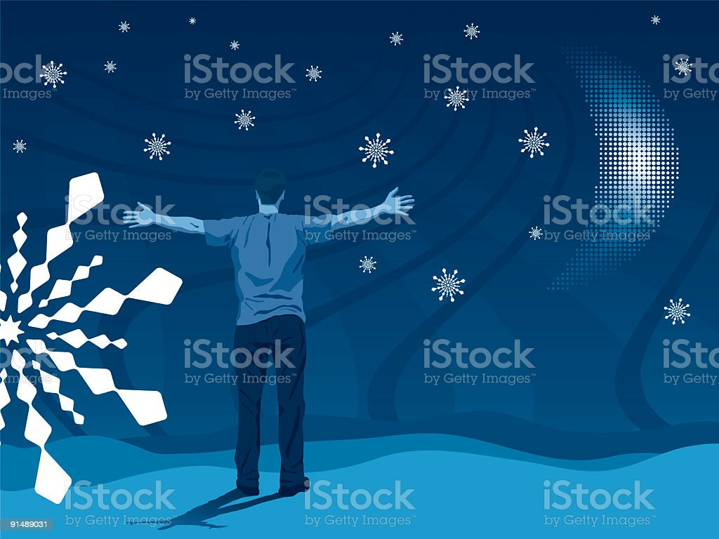 Let It Snow royalty-free stock vector art