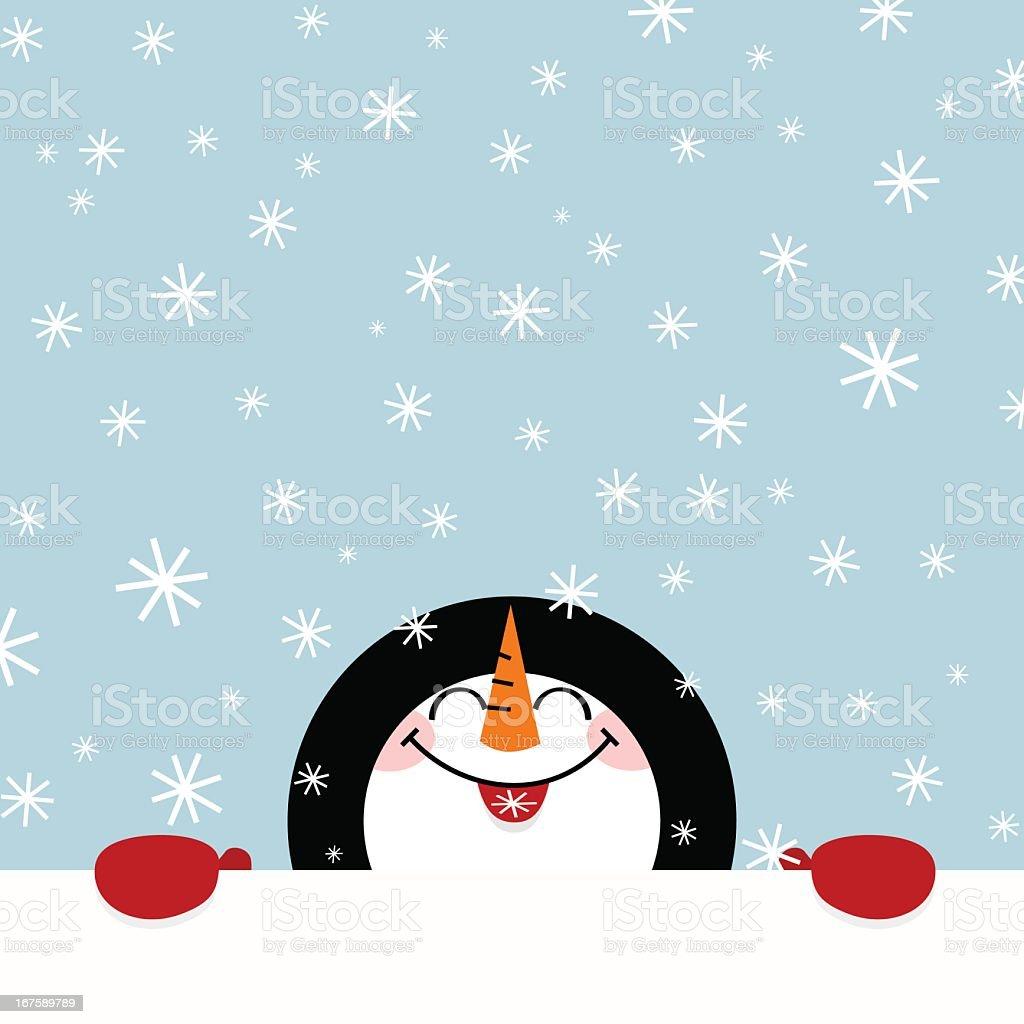 Let it snow snowman happy illustration vector winter cute royalty-free stock vector art