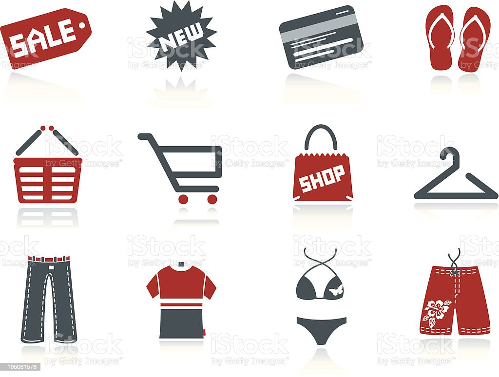 Let's Shop vector art illustration