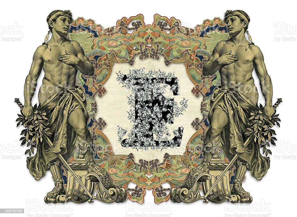 Letter E. royalty-free stock vector art