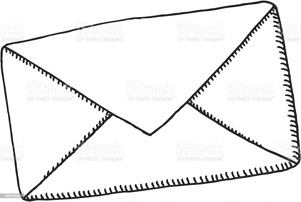 Letter Envelope Drawing royalty-free stock vector art