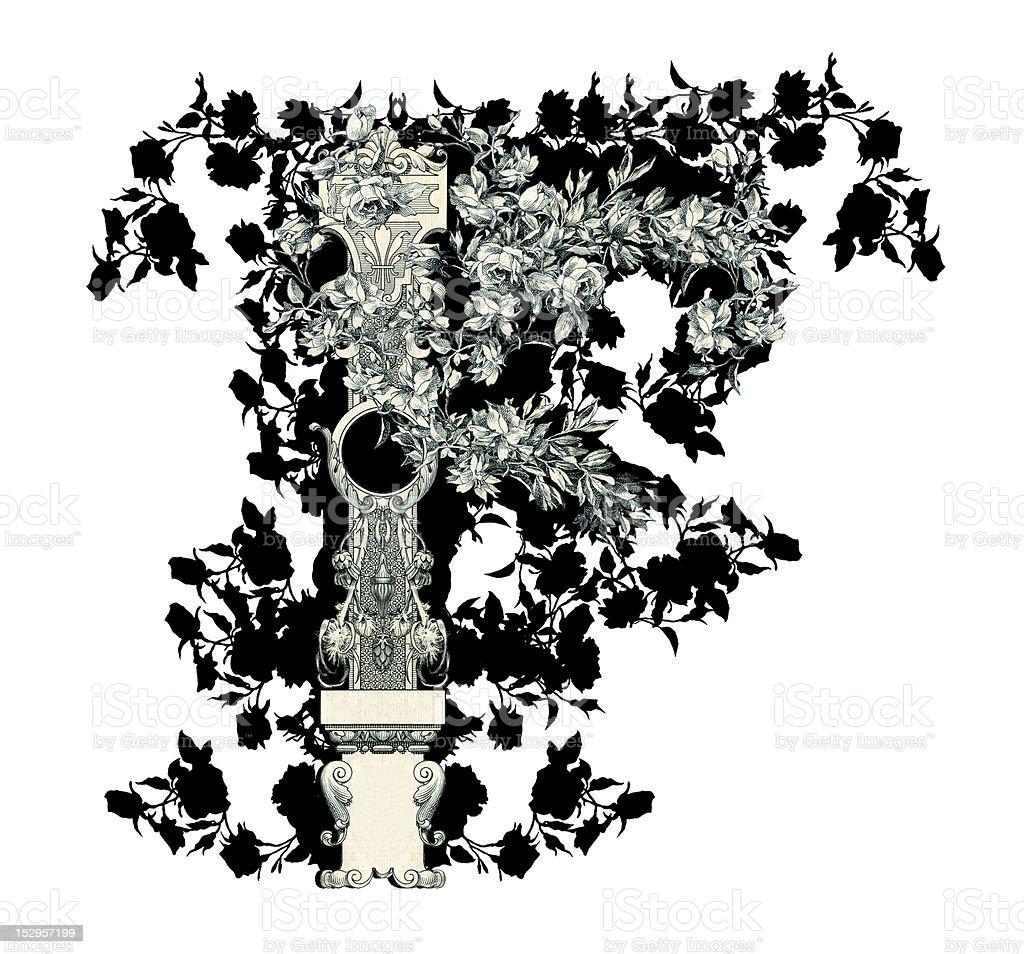 Letter F. royalty-free stock vector art
