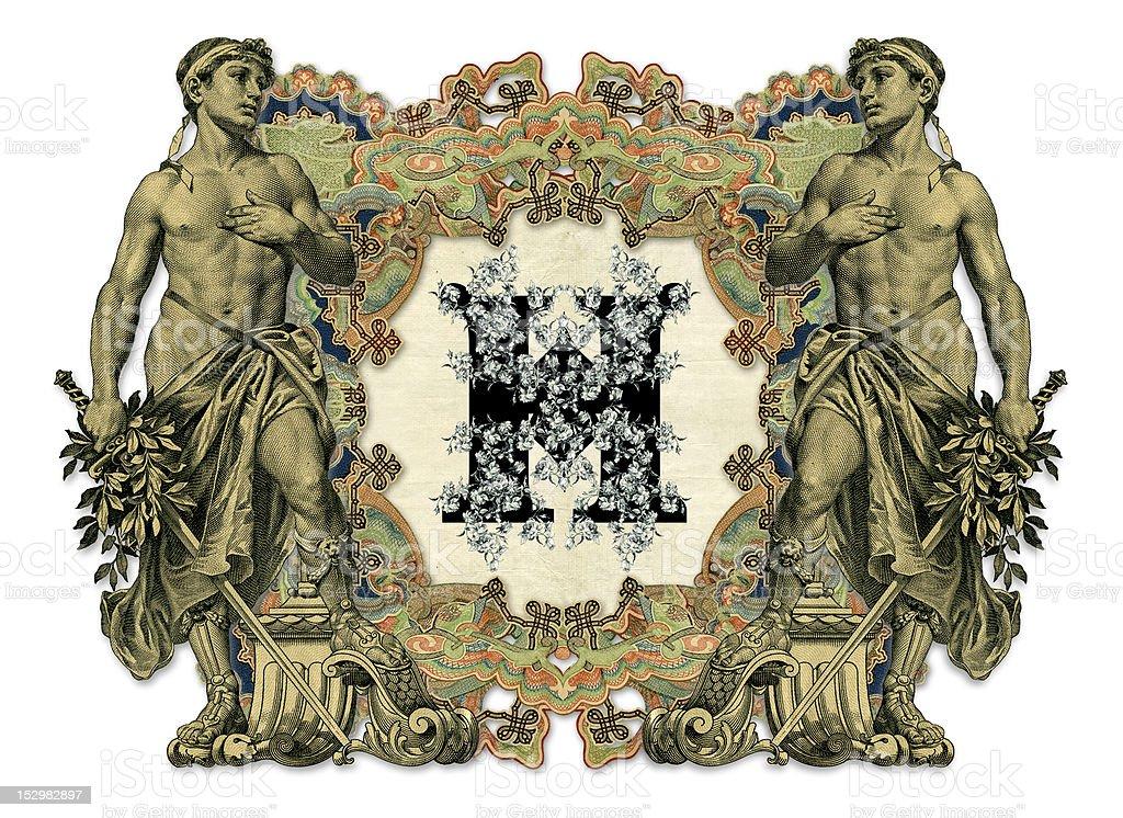 Letter H. royalty-free stock vector art