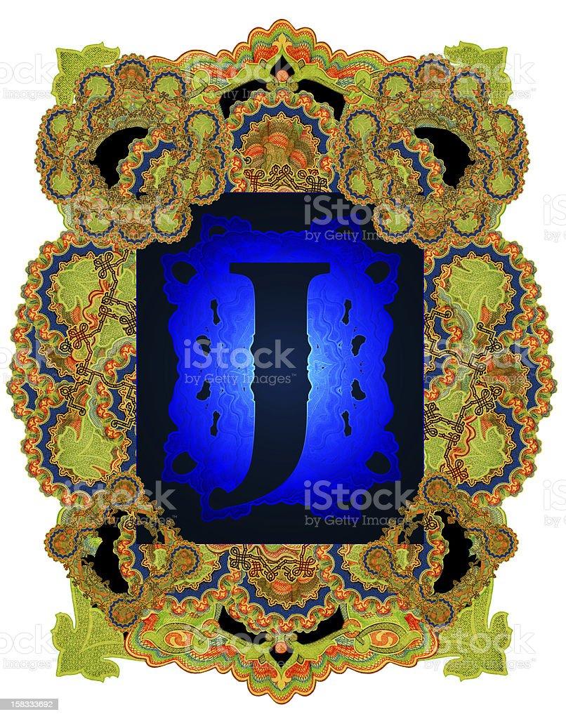 Letter J. royalty-free stock vector art