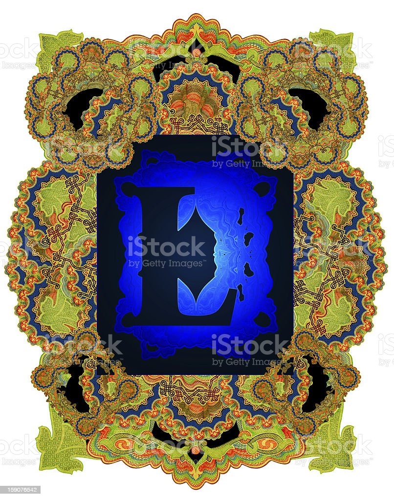 Letter L. royalty-free stock vector art