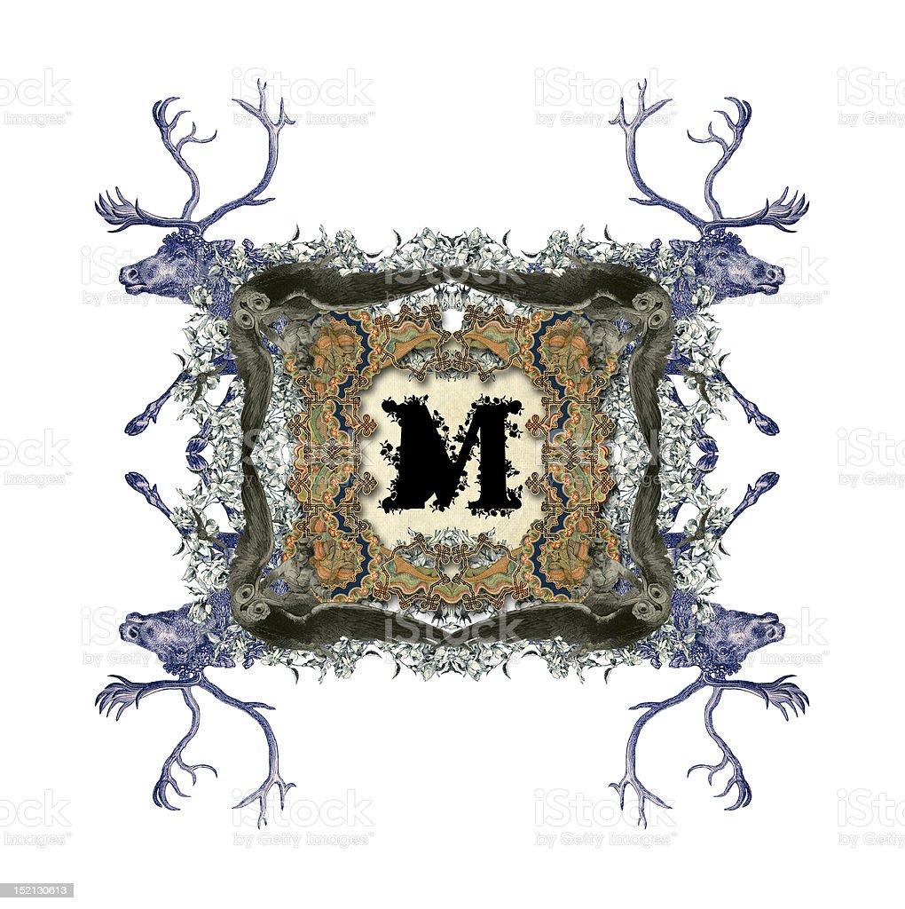Letter M. royalty-free stock vector art