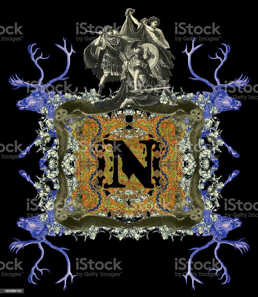 Letter N. royalty-free stock vector art