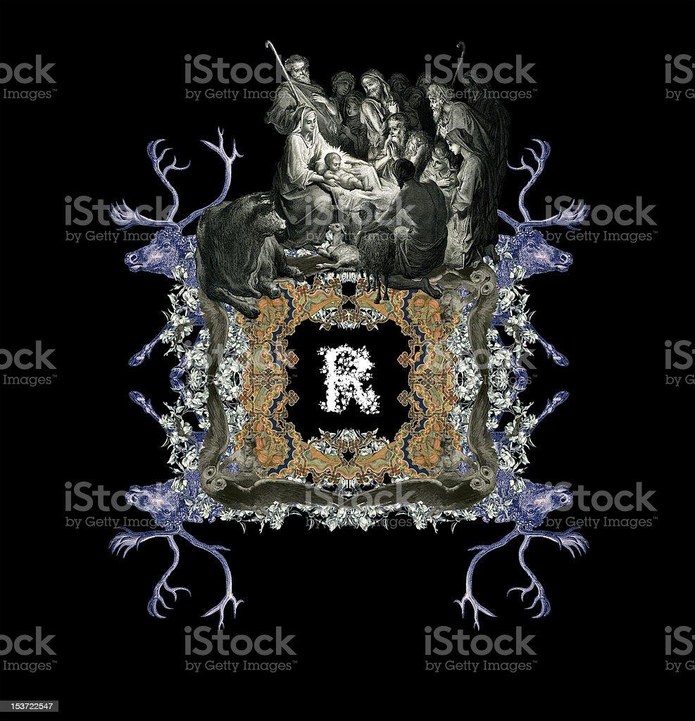 Letter R. royalty-free stock vector art