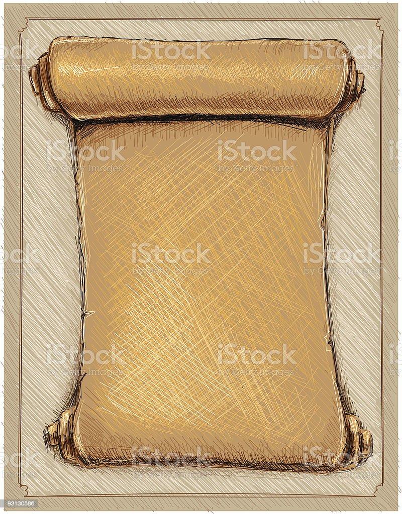 letter roll royalty-free stock vector art