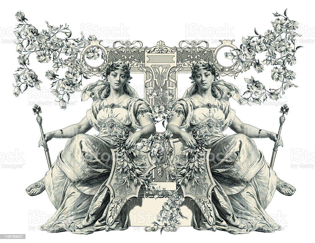 Letter T. royalty-free stock vector art