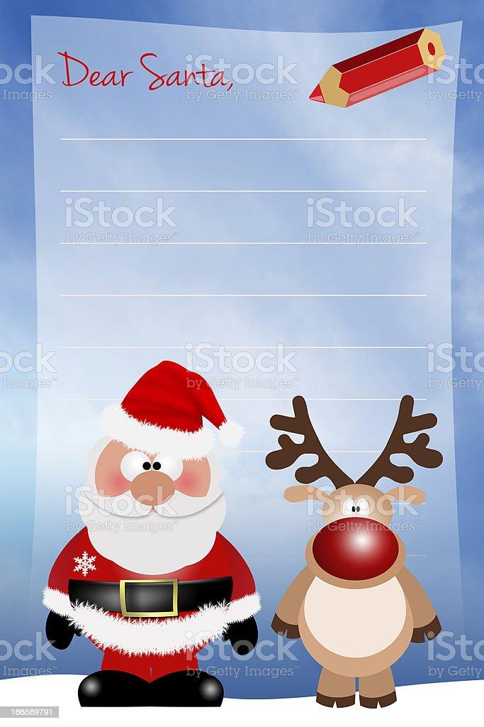 Letter to Santa for Christmas royalty-free stock vector art