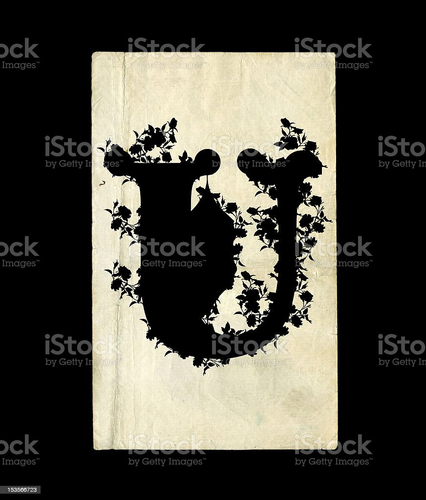 Letter U. royalty-free stock vector art