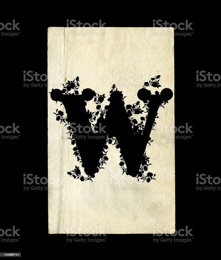 Letter W. royalty-free stock vector art