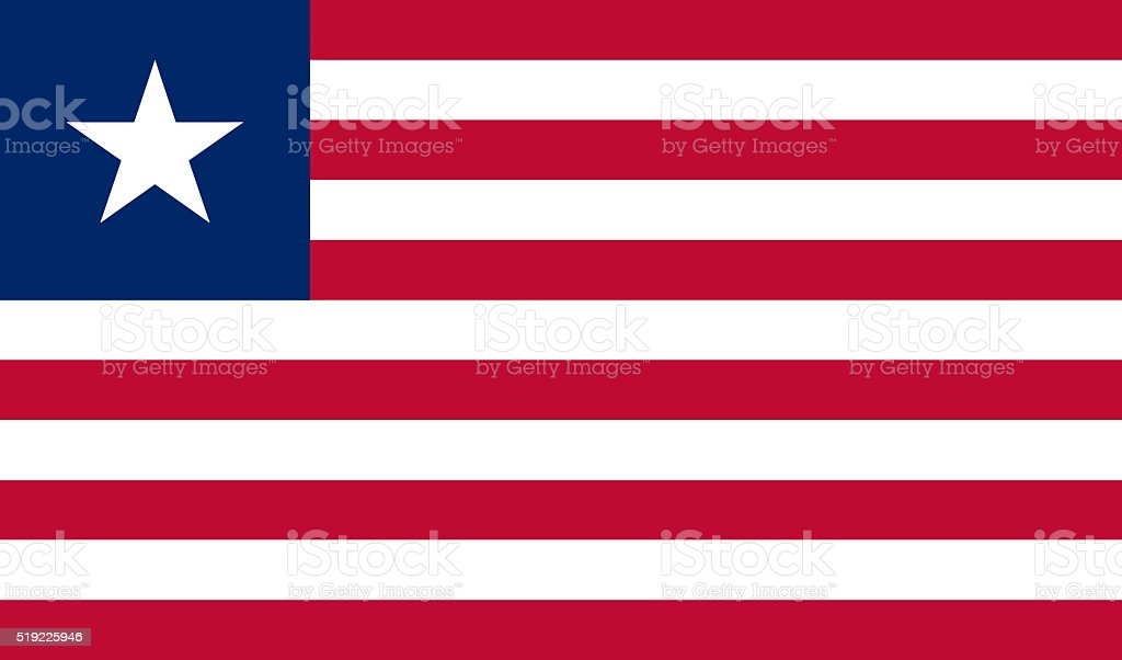 Liberian flag stock photo