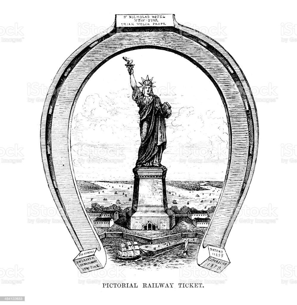 Liberty lighting up the World royalty-free stock vector art