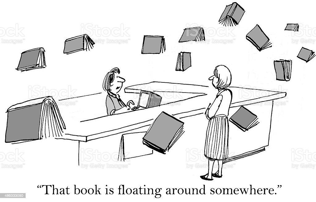 Library Books vector art illustration