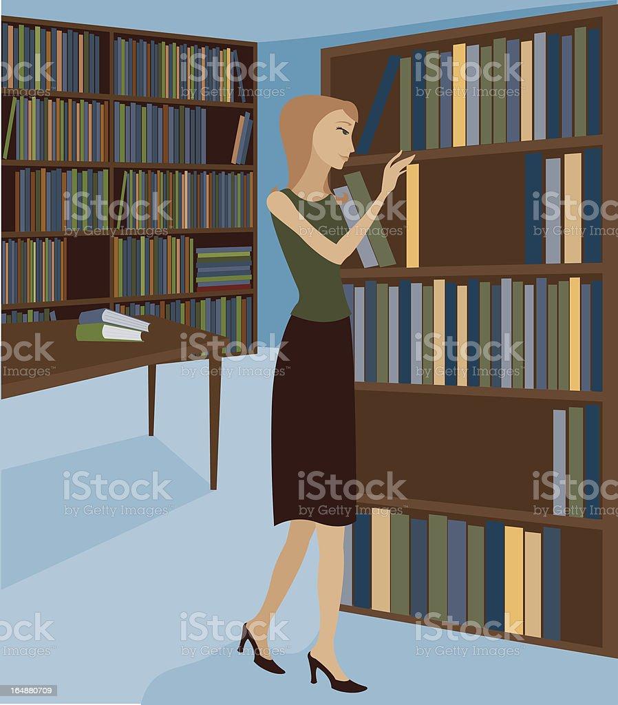 Library Scene 2 royalty-free stock vector art